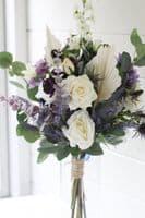 Artificial Purple Flower Vase Arrangement